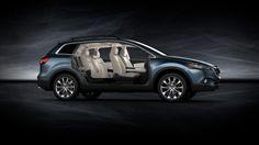 2014 Mazda CX-9 7-Passenger Crossover SUV   Mazda USA in blue reflex with sand interior
