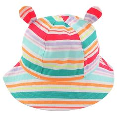 67451e94d5f Toddler Girls  Striped Bucket Hat with Ears - Cat  amp  Jack™   Target