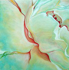 Acrylic art - love the O'Keefe style...