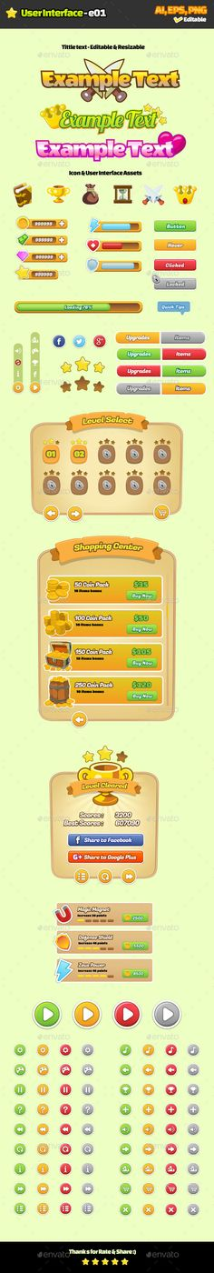 User Interface E01 - User Interfaces Game Assets