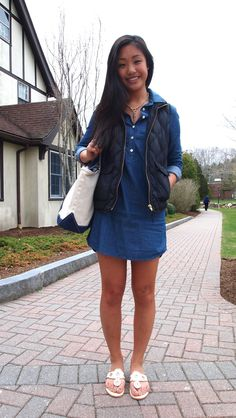 I have all of the ingredients to this outfit, but never fathomed wearing the dress without leggings...