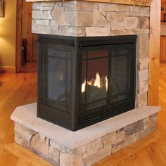 Ventless Fireplace Design, Pictures, Remodel, Decor and Ideas Wall Mounted Fireplace, Fireplace Design, Basements, Log Homes, Basement Ideas, Fireplaces, Home Remodeling, Blessed, House Ideas