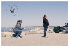 Engagement Photography » Mike's Proposal | A Harley Surprise | Colt State Park » Bristol, Rhode Island »Two Photographers In Love » New England Couples, Engagement and Wedding Photography