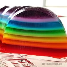 Rainbow jello mold + Top 50 Rainbow Desserts - the perfect way to celebrate St. Patrick's Day and welcome spring!
