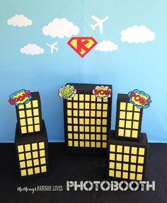 http://thethingshannahloves.blogspot.com.es/2013/07/superhero-birthday-party.html