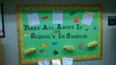September bulletin board celebrating the new school year.