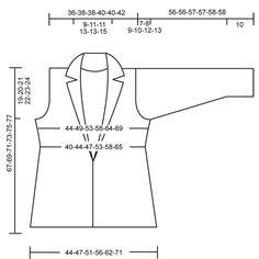 """DROPS 106-38 - Chaqueta DROPS con cuello en """"Drops Ice"""". Talla S – XXXL - Free pattern by DROPS Design"""