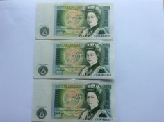 England Page English Elizabeth II Banknotes One Pound, Antique Items, Elizabeth Ii, Crisp, England, Personalized Items, Antiques, Vintage, Ebay