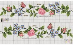 Cross Stitch Bookmarks, Beaded Cross Stitch, Cross Stitch Borders, Cross Stitch Rose, Cross Stitch Alphabet, Cross Stitch Flowers, Cross Stitch Charts, Cross Stitch Designs, Cross Stitch Embroidery