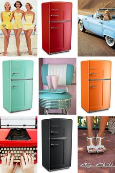 These beautiful BigChill vintage fridges are available in over 200 custom colors. Create your dream vintage kitchen today!