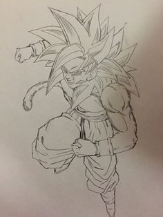 """ Drawn by: Young Jijii! Dragon Ball Z, Foto Do Goku, Goku Y Vegeta, Son Goku, Dbz Drawings, Ball Drawing, Seven Deadly Sins Anime, Super Saiyan, Character Drawing"