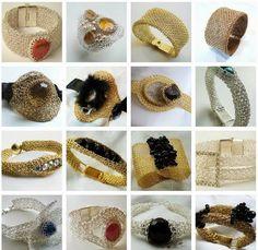 Joyeria tejida crochet en Punto Peruano. Crea tus propios Anillos, Aretes, Brazaletes y Collares con la técnica de tejido crochet y el punto peruano.