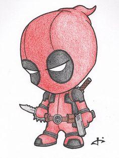 Little Deadpool von auf DeviantArt – Manga zeichnen - Cartoon Cute Disney Drawings, Cool Art Drawings, Pencil Art Drawings, Art Drawings Sketches, Easy Drawings, Drawing Ideas, Disney Sketches, Drawing Tips, Cool Cartoon Drawings