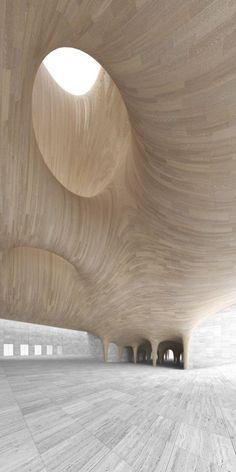 Originalidad arquitectónica del Atrium en el Museo Guggenheim de Helsinki (Finlandia) #FredericCla #FredericClad #THEFARM