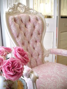 …whimsical French chair…perfectly romantic...