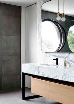 Bathroom - Wolseley Residence in Melbourne's Brighton, Australia by Mckimm.