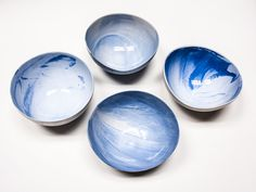 Porcelain Gazing Bowls Set of 4 by SwiftandRoe on Etsy, $330.00