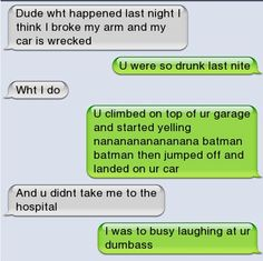 Epic text - Dude what happened last night - http://jokideo.com/epic-text-dude-what-happened-last-night/