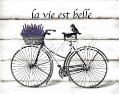 Francés Vintage lavanda guirnalda grande por CreatifBelle en Etsy