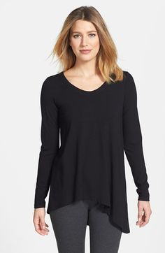 Eileen Fisher V-Neck Stretch Knit Top (Regular & Petite) available at #Nordstrom