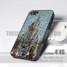 Disneyland Castle Mosaic - for iPhone 4/4s Case
