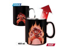 Mug with Son Goku from the anime series Dragon Ball Z. Ceramic mug with a design that displays the aura when the temperature changes (Heat-Active), with a capacity of 460 ml.