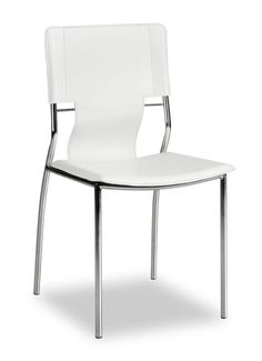 Zuo Modern Trafico Dining Chair Trafico Dining Chair (Package of 4) White Furniture Seating Dining Chairs