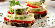 Legumes grelhados com queijos