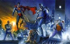 Superman Batman vs. Luthor Joker By Gabriele Dell'Otto #Comics #Illustration #Drawing