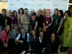 Moi with a fashionable & beautiful group of bloggers and design stars!  #BrizoFW