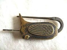 Chinese Old Style Brass Carved Swan Padlock Lock Key   eBay