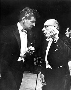 Leonard Bernstein with the great composer Igor Stravinsky.