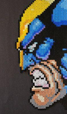 Wolverine Perler Bead Pixel Art