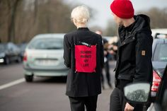 Olga Karput, fall winter, street style, interesting black blazer