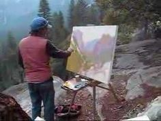 McVicker starts a painting of Yosemite