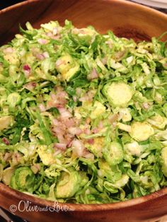 Brussels sprouts salad with bacon