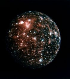 Callisto - one of Jupiter's moons and one of my very favorite things in space. It's so beautiful :3
