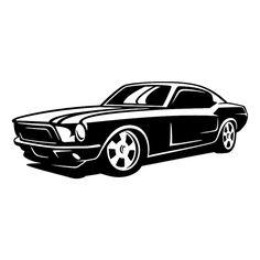 Mustang Die Cut Vinyl Decal PV1349