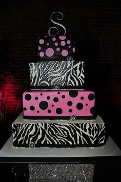 Zebra wedding cake 1 by B Willard, via Flickr.....idk who would want this as a wedding cake but its cute for a birthday