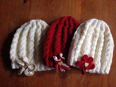 Girls Cable Knit Aran Hat by BunnieKnitwear on Etsy