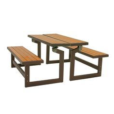 Features:  With Table Conversion.  Purchase Two To Create A Classic Picnic  Table.  Easily Converts From Bench To Table.  Ultra Stable In Both  Positions.