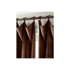 6009 Parker 120L Tie-Top Velvet Curtain ($750) ❤ liked on Polyvore featuring home, home decor, window treatments, curtains, bark, velvet window treatments, tie-top curtains, velvet curtains, velvet drapery and tie top curtains