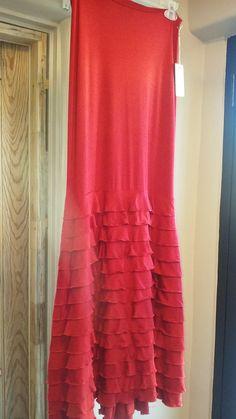 Maria Garrido Red Ruffle Flamenco Skirt van FlecosyLunares op Etsy