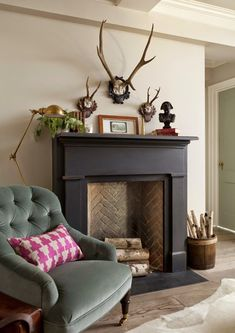 top fake fireplaces that look real household ideas design chic faux fireplace ru. : top fake fireplaces that look real household ideas design chic faux fireplace rustic fireplaces black fireplace surround decorating ideas for small living room Black Fireplace Surround, Fake Fireplace, Fireplace Surrounds, Fireplace Hearth, Fireplace Ideas, Painted Fire Surround, Black Fireplace Mantels, Fireplace Makeovers, Simple Fireplace