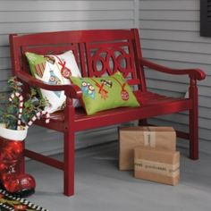 Amalfi Bench Maybe for a garden or porch? I really like the way this looks and it's a great price.