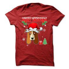Merry Christmas Basset Hound T Shirts, Hoodie Sweatshirts