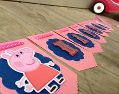 Cute Peppa Pig Birthday Banner by DianasDen on Etsy