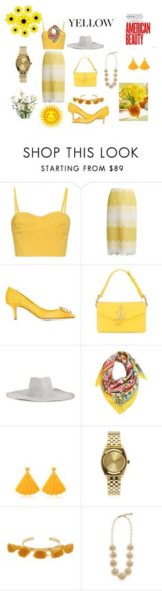 """Yellow fashion fest..."" by jamuna-kaalla ❤ liked on Polyvore featuring Tomas Maier, Erdem, Dolce&Gabbana, J.W. Anderson, REINHARD PLANK, Mariah Rovery, Nixon, Marte Frisnes, Lulu Frost and vintage"