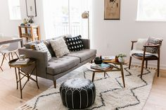 GWS Home Tour - Mid-Century Modern + Boho-Inspired Living Room