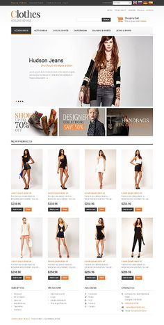 Fashion Store Os Commerce Template #freecsstemplate